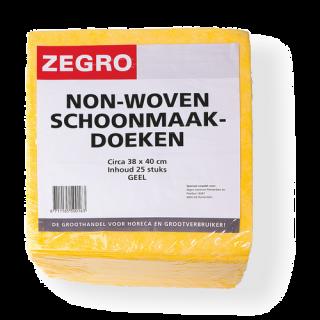 Zegro Schoonmaakdoek Geel 38x40cm.